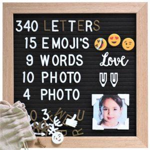 Letter Board Oak 25x25cm-3540