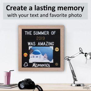Letter Board Oak 25x25cm-3539