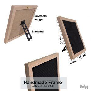 Letter Board Oak 25x25cm-3544