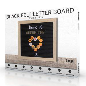 Letter Board Oak 25x25cm-3546