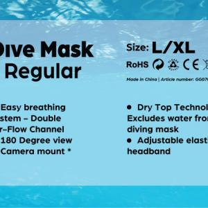 Dive Mask Regular L/XL-3300