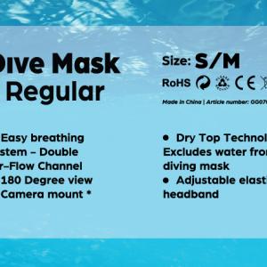 Dive Mask Regular S/M-2538