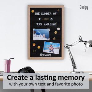 Letter Board Oak 30x45cm-3533