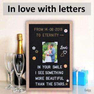 Letter Board Oak 30x45cm-3535