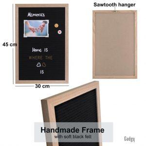 Letter Board Oak 30x45cm-3537