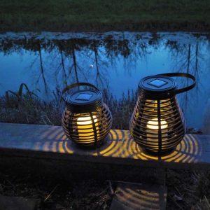 Solar Rattan Lantern Set 2 pc-0