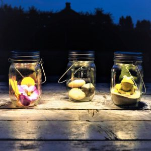 Solar Jar Light Set Small 3 pc-0