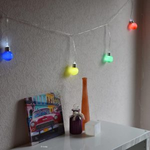 Coloured Bulb String Light V2-3031