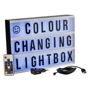 Colour changing Lightbox A4 incl afstandsbediening-3178