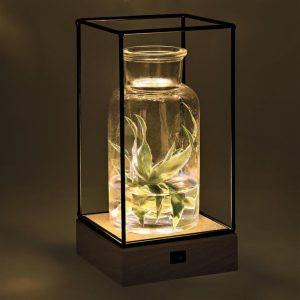 Draadframe Hout decoratie Lamp-3318