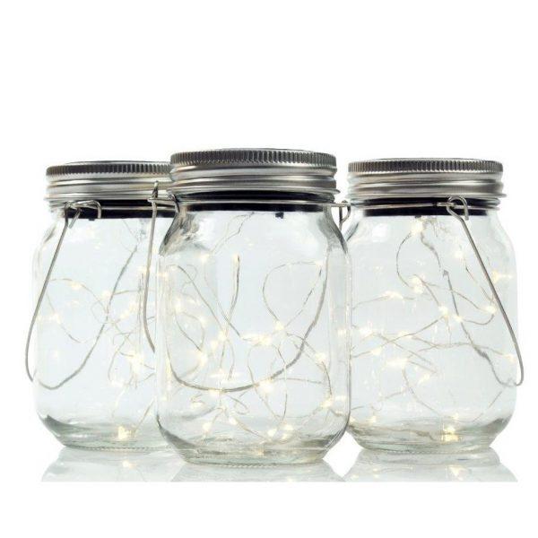 Solar Jar Light Set Fairy Lights 3 pcs-3374