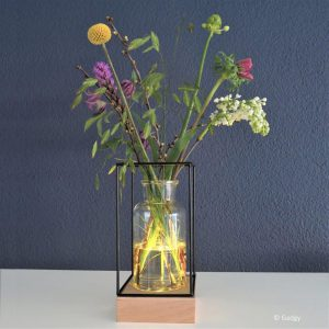 Draadframe Hout decoratie Lamp-3310