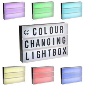 Colour changing Lightbox A4 incl afstandsbediening-0