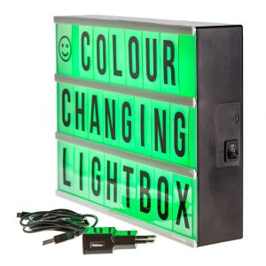 Colour changing Lightbox A4 incl afstandsbediening-3179