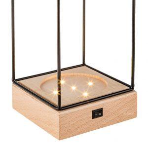 Draadframe Hout decoratie Lamp-3313