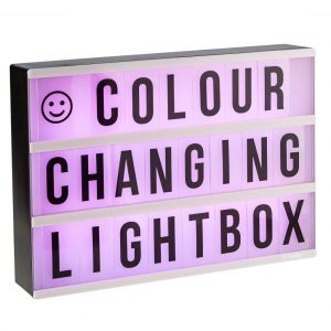 Colour changing Lightbox A4 incl afstandsbediening-3176
