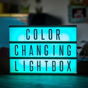Colour changing Lightbox A4 incl afstandsbediening-3182