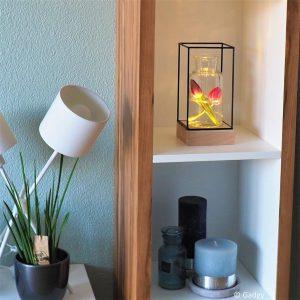 Draadframe Hout decoratie Lamp-3314