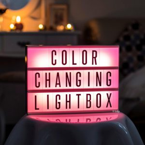 Colour changing Lightbox A4 incl afstandsbediening-3180