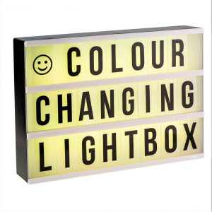 Colour changing Lightbox A4 incl afstandsbediening-3177