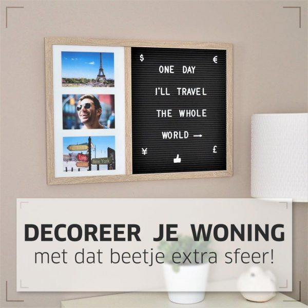 Letter Board Picture Frame Large – 2 parts-0