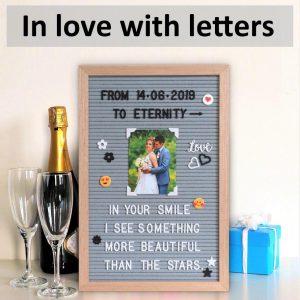 """Letter Board Grey (""""12x18)-3419"""