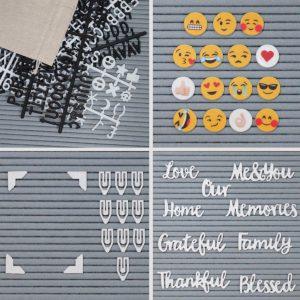 """Letter Board Grey (""""12x18)-3420"""