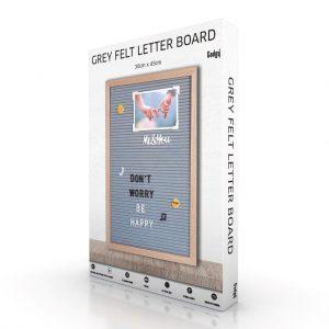 """Letter Board Grey (""""12x18)-3425"""