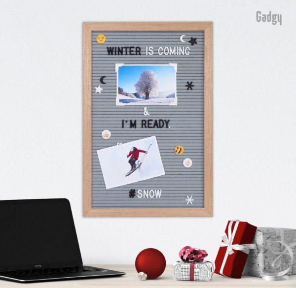 """Letter Board Grey (""""12x18)-0"""