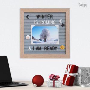 Letter Board Grey 25x25 cm-0