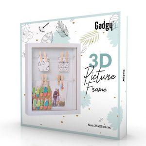 3D Frame White-3491