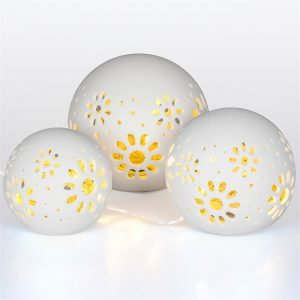 Ceramic Ball Lights 3 pcs-3558