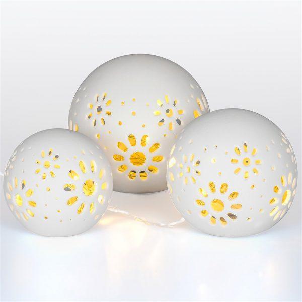 Ceramic Ball Lights 3 pcs-3558