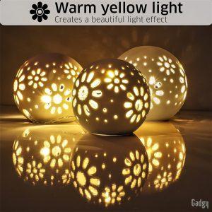 Ceramic Ball Lights 3 pcs-3560