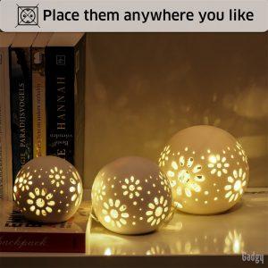 Ceramic Ball Lights 3 pcs-3559