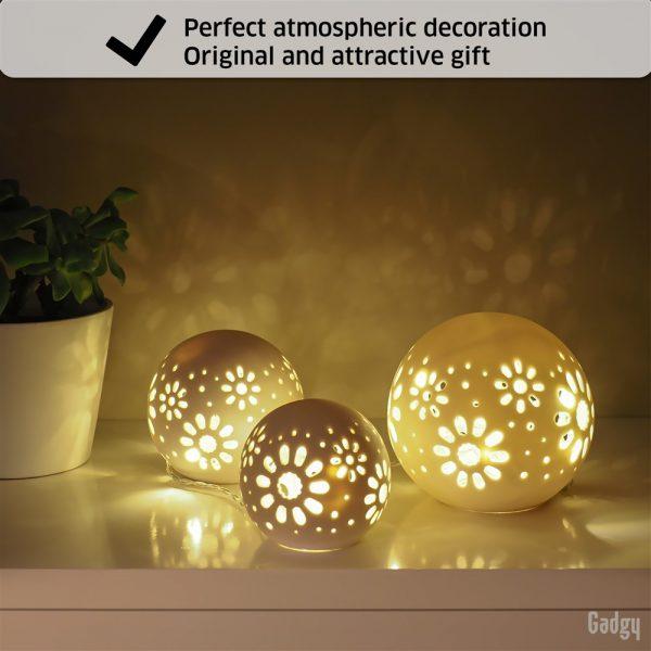 Ceramic Ball Lights 3 pcs-0