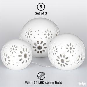 Ceramic Ball Lights 3 pcs-3562