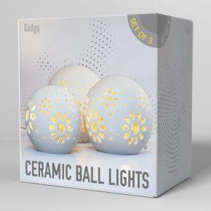 Ceramic Ball Lights 3 pcs-3565
